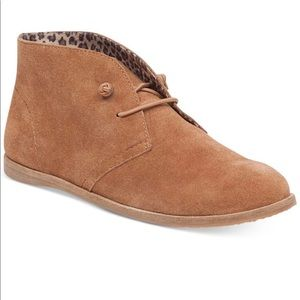 Lucky Brand Sz 7.5 Suede Leather Booties
